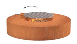 Vuurtafel rond  met of zonder grill