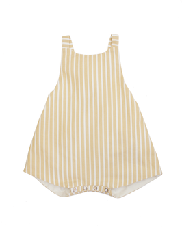 Romper // STRIPES MUSTARD