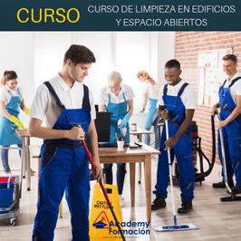OFERTA! Curso Online de Limpieza en Edificios y Espacios Abiertos + Titulación Certificada