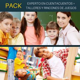 OFERTA! Cursos Online de Experto en Cuentacuentos + Curso Online de Talleres y Rincones de Juegos en Educación Infantil. Titulaciones Incluidas.