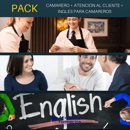 OFERTA! Cursos Online de Camarero + Atención al Cliente + Inglés para Camareros