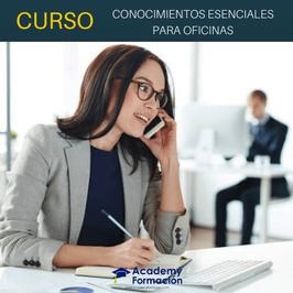 OFERTA! Curso Online de Conocimientos Esenciales para Oficinas + Titulación Certificada