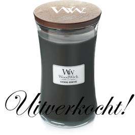 Woodwick Large candle evening bonfire ***uitverkocht***