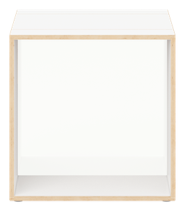 White Cube with glazed acrylic glass polar white