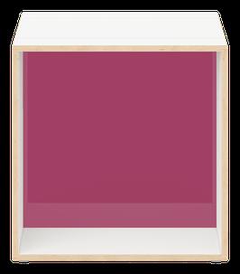 White Cube with glazed acrylic glass plum