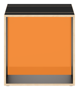 Cube schwarz mit Acrylglas glanz transparent amber