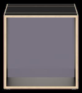 Black Cube with glazed acrylic glass stone grey