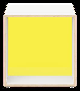 Cube weiss mit Acrylglas satiniert citrus yellow
