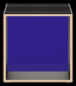 Cube schwarz mit Acrylglas glanz transparent dunkelblau