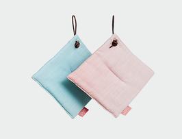 Topflappen  PYTT Potholders rosa / mint - 2er Set