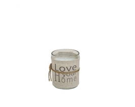 Windlicht Glas Love your Home H6cm