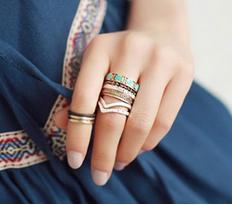 Pack anillos de moda