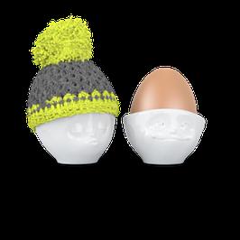 Eierbecher Mütze grün/grau