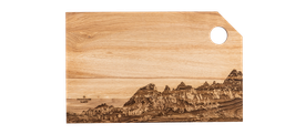 """Holz-Schneidebrett Classic XL """"Martinsloch"""""""
