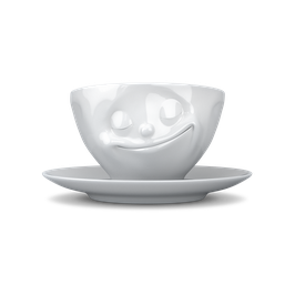 Kaffeetasse 200ml fiftyeight - glücklich