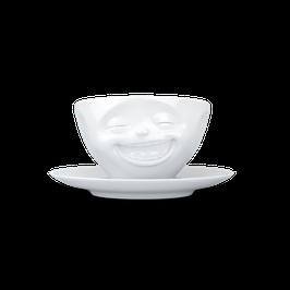 "Kaffeetasse 200ml fiftyeight  - lachend ""NEU"""