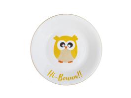 Assiette Hibou personnalisable pour enfant en Porcelaine de Limoges