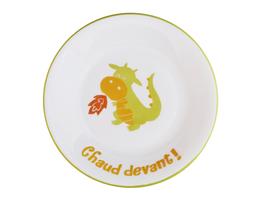 Assiette Dragon personnalisable pour enfant en Porcelaine de Limoges