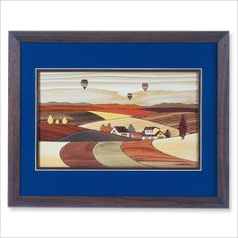 旭川寄せ木絵シリーズ  風景 気球