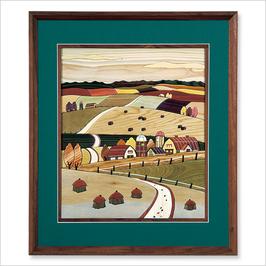 旭川寄せ木絵シリーズ 風景 実りの秋