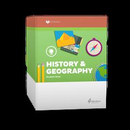 LIFEPAC® 1st Grade History & Geography 10-Unit Set 生命课程一年级历史和地理学生本 1-10 册套装