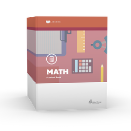 LIFEPAC® 3rd Grade Math 10-Unit Set  LIFEPAC®3年级数学学生本10单元套装