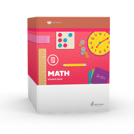 LIFEPAC® 2nd Grade Math 10-Unit Set  LIFEPAC®2年级数学学生本10单元套装