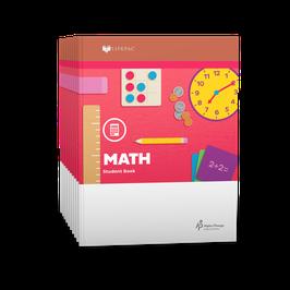 LIFEPAC® 1st Grade Math 10-Unit Set 生命课程一年级数学学生本 1-10 册套装
