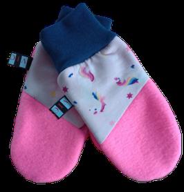 """Handschuhe """"Alin"""" Rosa mit Einhörnern"""
