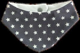 Baby Halstuch grau Weiß Sterne