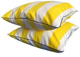 Kissenhülle Gelb Weiß 50x50 cm