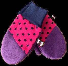 Handschuhe Lila Pink
