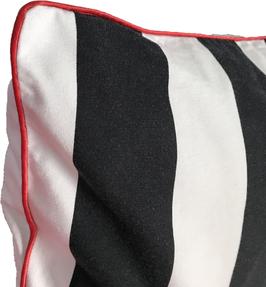 Kissenhülle Schwarz Weiß 50x50 cm