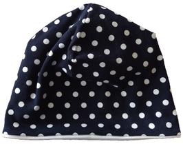 Babymütze Blau Weiß Punkte