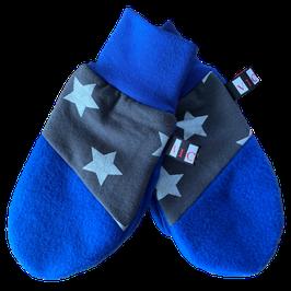 Handschuhe Blau Grau