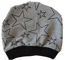 """Mütze """"big Star"""" Grau Schwarz"""