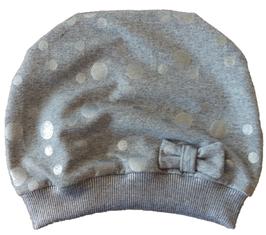 Mütze Grau mit Glitzer