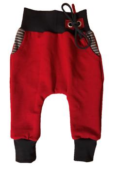 Funny Baggy Pant Rot Blau mit Kordel