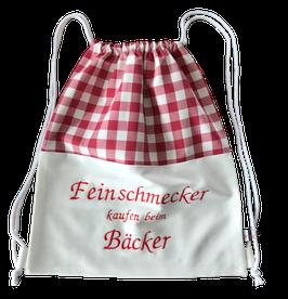 """Brot Rucksack rot weiß """"Feinschmecker"""""""