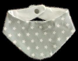 Baby Halstuch Hellelgrau Weiß Sterne