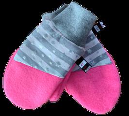 Handschuhe Pink Silber Sternchen
