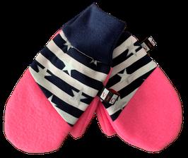 Handschuhe Pink Blau Silber Sternchen