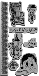 Graphic 45 Little Darlings Stamps Set 3 (0138)