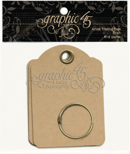 Graphic 45 Artist Trading Tags - Kraft