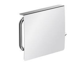 WC-Papierhalter Eivor mit Deckel, rechts, Zink verchromt