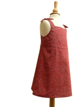 Kleid-bordeaux/Blümchen
