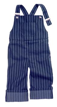 Latzhose-blau/hellblau