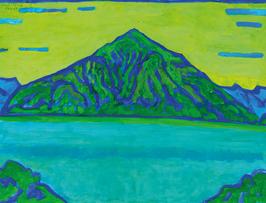 Plakat «Bendicht Friedli: Blau-Grün-Niesen»