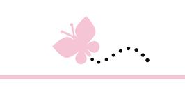 Menükarte Fischform für die Kommunion/Konfirmation, Design Schmetterlinge