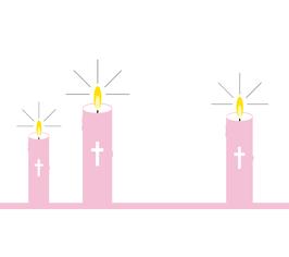 Licht-Botschaft Kommunion/Konfirmation, Design Kerzen